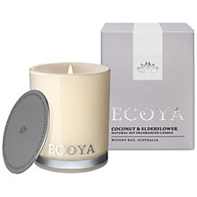 Buy Ecoya Mini Madison Jar Coconut and Elderflower Candle Online at johnlewis.com