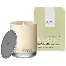 Buy Ecoya Mini Madison Jar French Pear Candle Online at johnlewis.com