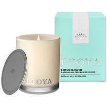 Buy Ecoya Mini Madison Jar Lotus Flower Candle Online at johnlewis.com