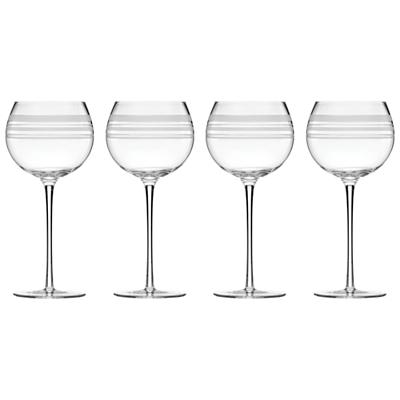 kate spade new york Library Stripe Wine Glasses, Set of 4