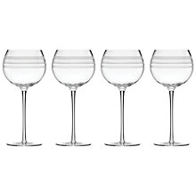 Buy kate spade new york Library Stripe Wine Glasses, Set of 4 Online at johnlewis.com