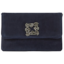 Buy Dune Bree Flapover Embellished Clutch Bag, Navy Online at johnlewis.com