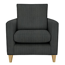 Buy John Lewis Bailey Armchair Porto Charcoal Light Leg Online at johnlewis.com