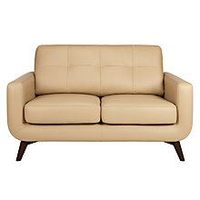 Buy John Lewis Barbican Small 2 Seater Leather Sofa, Dark Leg Online at johnlewis.com