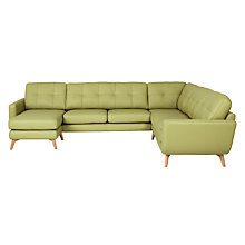 Buy John Lewis Barbican Semi-Aniline Grand Corner Chaise Online at johnlewis.com