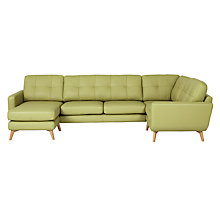 Buy John Lewis Barbican Semi-Aniline Leather RHF Medium Corner Chaise Sofa Online at johnlewis.com