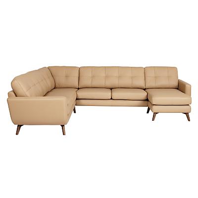 John Lewis Barbican Semi-Aniline Leather Corner End Sofa with RHF Chaise Unit