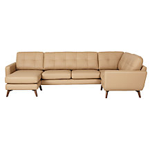 Buy John Lewis Barbican Semi-Aniline Leather LHF Medium Corner Chaise Sofa Online at johnlewis.com