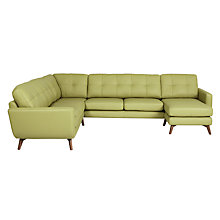 Buy John Lewis Barbican Semi-Aniline Leather Grand Corner Chaise Unit Sofa Online at johnlewis.com
