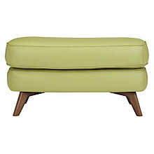 Buy John Lewis Barbican Semi-Aniline Leather Rectangular Footstool Online at johnlewis.com
