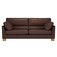 Buy John Lewis Ikon High Back Grand 4 Seater Leather Sofa Online at johnlewis.com