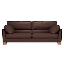 Buy John Lewis Ikon High Back Large 3 Seater Leather Sofa Online at johnlewis.com
