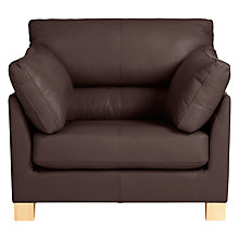 Buy John Lewis Ikon High Back Leather Armchair Online at johnlewis.com