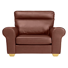 Buy John Lewis Walton II High Back Scroll Leather Snuggler Online at johnlewis.com
