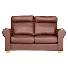 Buy John Lewis Walton II High Back Scroll Small Leather Sofa Online at johnlewis.com
