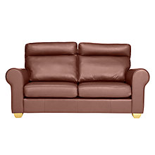 Buy John Lewis Walton II High Back Scroll Medium Leather Sofa Online at johnlewis.com