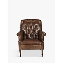 Buy Tetrad Harris Tweed Flynn Leather Armchair Online at johnlewis.com