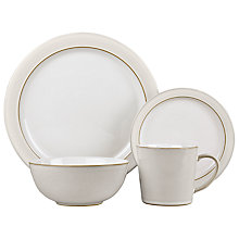 Buy Denby Natural Canvas Foundation Dining Set, 16 Pieces Online at johnlewis.com