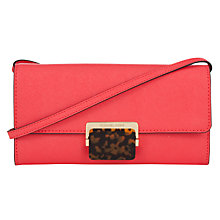 Buy MICHAEL Michael Kors Cynthia Large Clutch Bag, Coral Online at johnlewis.com