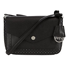 Buy MICHAEL Michael Kors Greenwich Leather Small Across Body Bag, Black Online at johnlewis.com