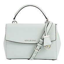 Buy MICHAEL Michael Kors Ava Small Leather Satchel, Celadon Online at johnlewis.com
