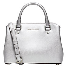 Buy MICHAEL Michael Kors Savannah Small Leather Satchel Online at johnlewis.com
