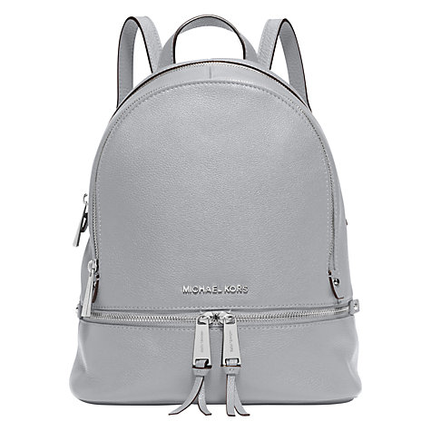 Buy MICHAEL Michael Kors Rhea Leather Backpack, Dove Online at johnlewis.com