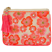 Buy John Lewis Neon Flower Small Pouch, Multi Online at johnlewis.com