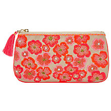 Buy John Lewis Neon Flower Long Pouch, Multi Online at johnlewis.com