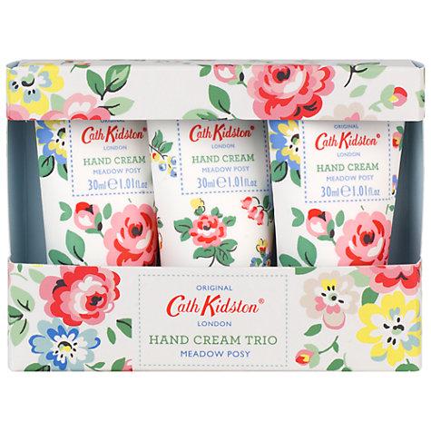 Buy Heathcote & Ivory Cath Kidston Meadow Posy Hand Cream Trio Online at johnlewis.com
