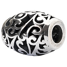 Buy Trollbeads Sterling Silver Oval Wind of Change Bead Charm, Silver Online at johnlewis.com
