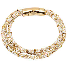 Buy Adele Marie 3 Row Rope Bracelet, White/Gold Online at johnlewis.com