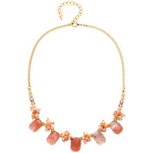 Buy Adele Marie Glass Bead Necklace, Beige/Multi Online at johnlewis.com
