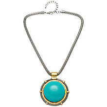 Buy Adele Marie Rhodium Mesh Rope Round Pendant Necklace Online at johnlewis.com