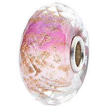 Buy Trollbeads Sterling Silver and Faceted Murano Glass Delight Bead Charm, Pink/Gold Online at johnlewis.com