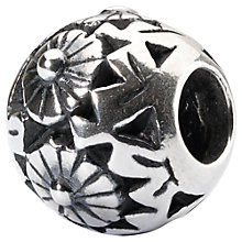 Buy Trollbeads Sterling Silver Ornamental Flower Bead Charm, Silver Online at johnlewis.com