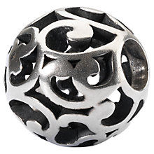Buy Trollbeads Sterling Silver Round Wind of Change Bead Charm, Silver Online at johnlewis.com