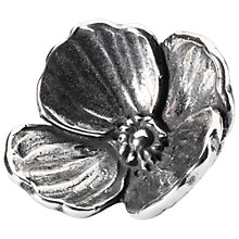 Buy Trollbeads Sterling Silver Lovers Faith Flower Bead Charm, Silver Online at johnlewis.com