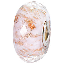 Buy Trollbeads Sterling Silver Glass Blossom Shade Bead Charm, Nude/Gold Online at johnlewis.com