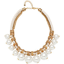 Buy Adele Marie Mesh Rope and Plaited Cotton Rope Faux Pearl Necklace Online at johnlewis.com