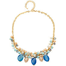 Buy Adele Marie Glass Bead Necklace, Blue/Multi Online at johnlewis.com