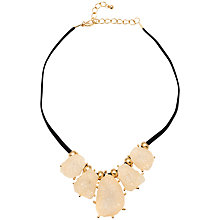 Buy Adele Marie Resin Stone Necklace, White/Black Online at johnlewis.com