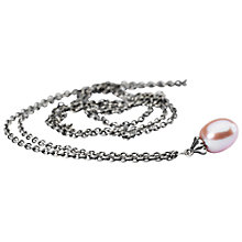 Buy Trollbeads Fantasy Freshwater Pearl Pendant Necklace, Silver/Pink Online at johnlewis.com