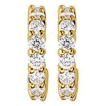 Buy Dyrberg/Kern Small Hoop Cubic Zirconia Earrings Online at johnlewis.com