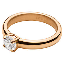 Buy Dyrberg/Kern Solitaire Cubic Zirconia Ring, Rose Gold Online at johnlewis.com