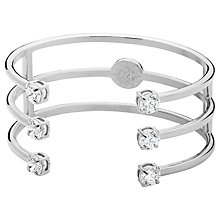 Buy Dyrberg/Kern Triple Cubic Zirconia Open Bangle Online at johnlewis.com
