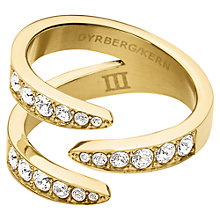 Buy Dyrberg/Kern Swarovski Crystal Asymmetrical Ring Online at johnlewis.com