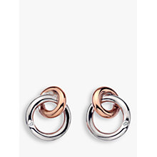 Buy Hot Diamonds Eternity Interlock Stud Earrings, Silver/Rose Gold Online at johnlewis.com