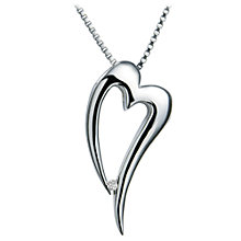Buy Hot Diamonds Just Add Love Heart Pendant Necklace, Silver Online at johnlewis.com