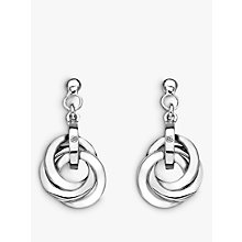 Buy Hot Diamonds Trio Drop Earrings, Silver Online at johnlewis.com